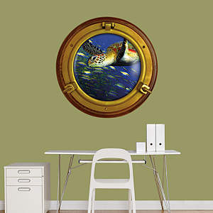 Sea Turtle: Porthole Fathead Wall Decal
